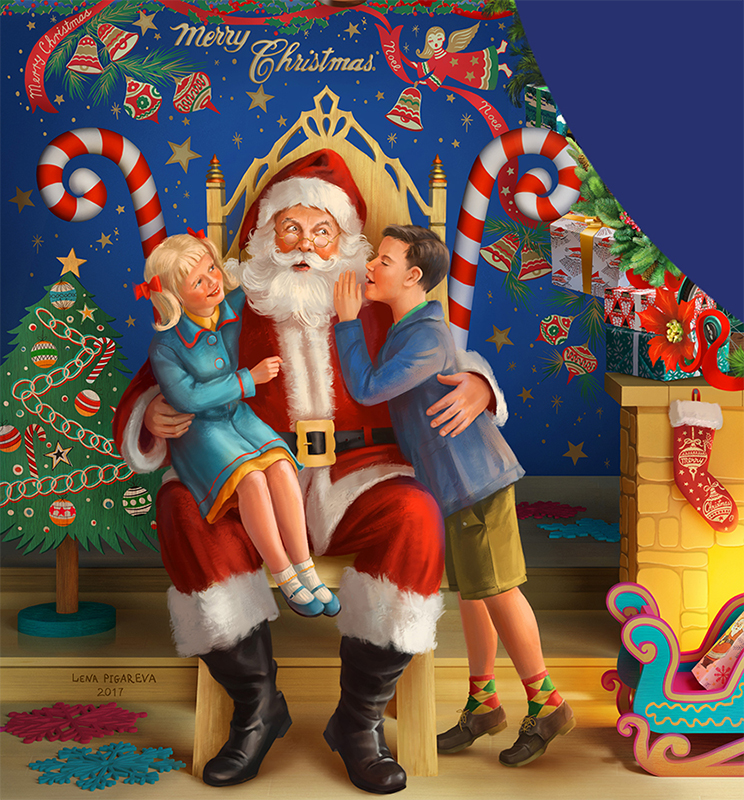 Christmas Traditions puzzle Santa
