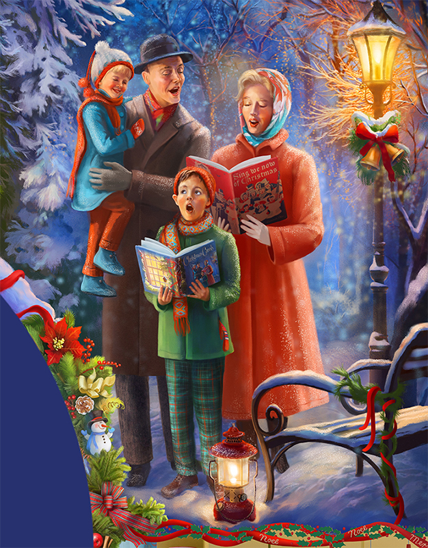 Christmas Traditions puzzle Christmas Caroling