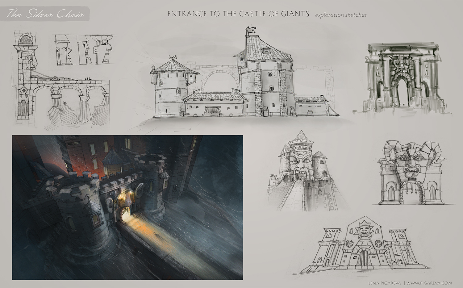 Silver-chair_Castle of giants_exploration sketches